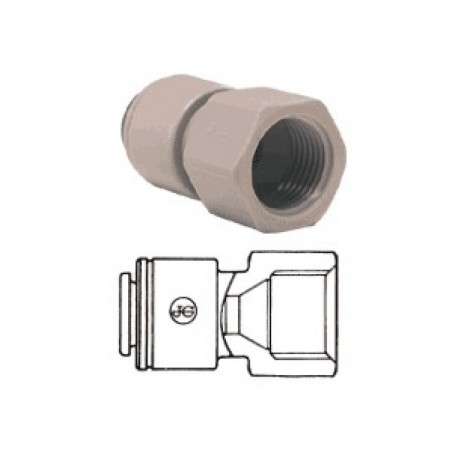 Tube To Female Pipe Adapter JG 1/4 Inch Tube To 7/16 Inch Faucet
