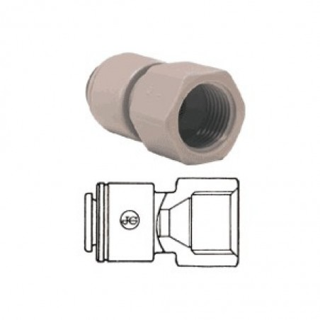 Tube To Female Pipe Adapter JG 1/4 Inch Tube To 1/2 Inch Bsp