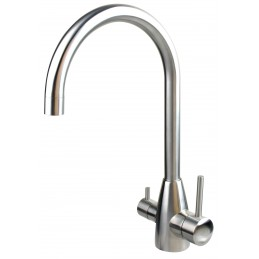 "Model ""M"" dual outlet stainless steel high arch flick mixer"