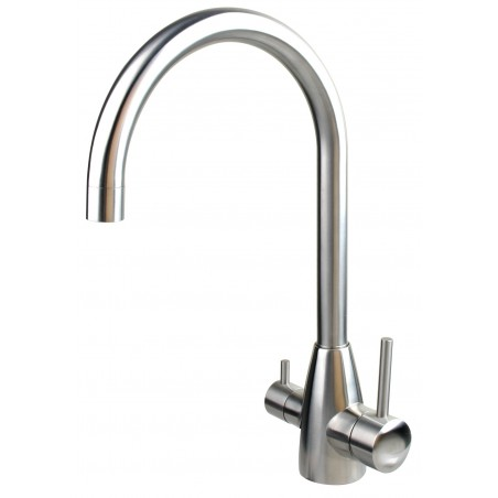 """Model """"M"""" dual outlet stainless steel high arch flick mixer"""