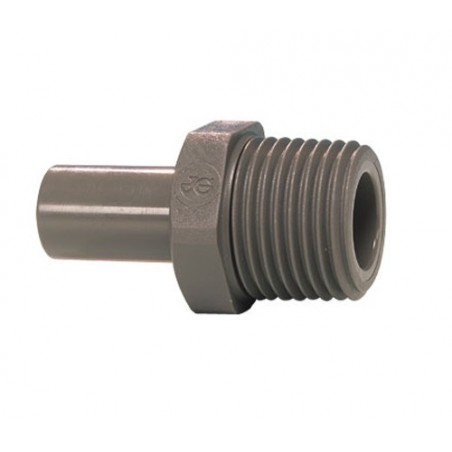 "John Guest stem 3/8"" to 1/4"" NPT straight"