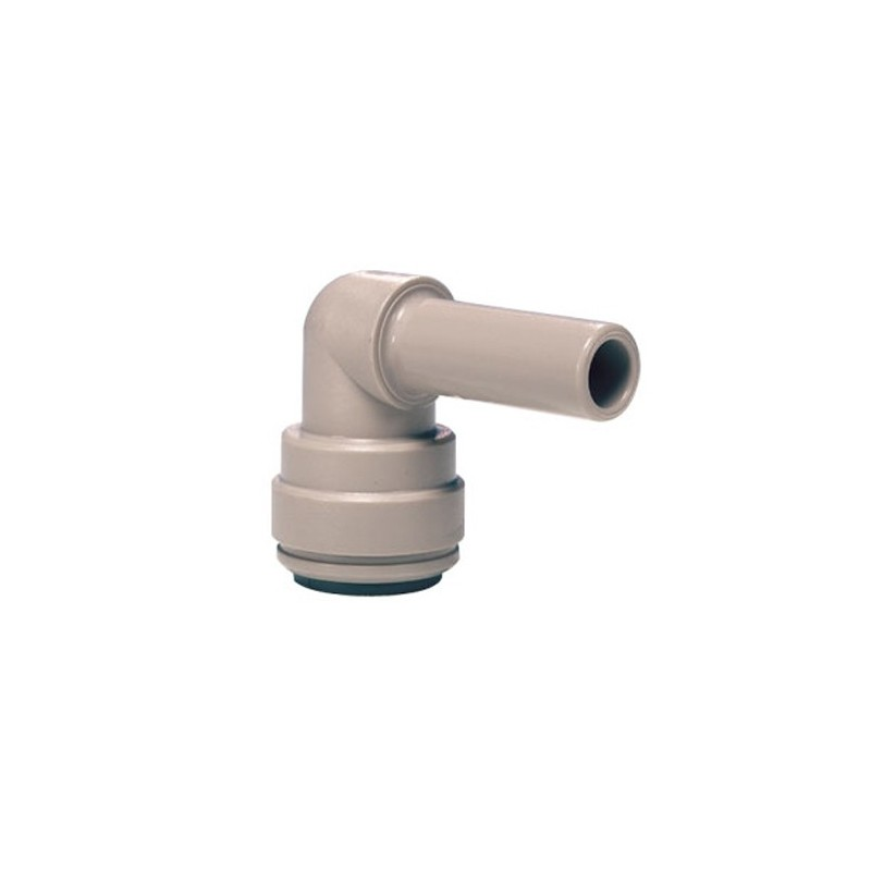 """John Guest 3/8"""" stem to 1/4"""" tube elbow"""