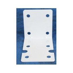 White powder coated single big blue bracket
