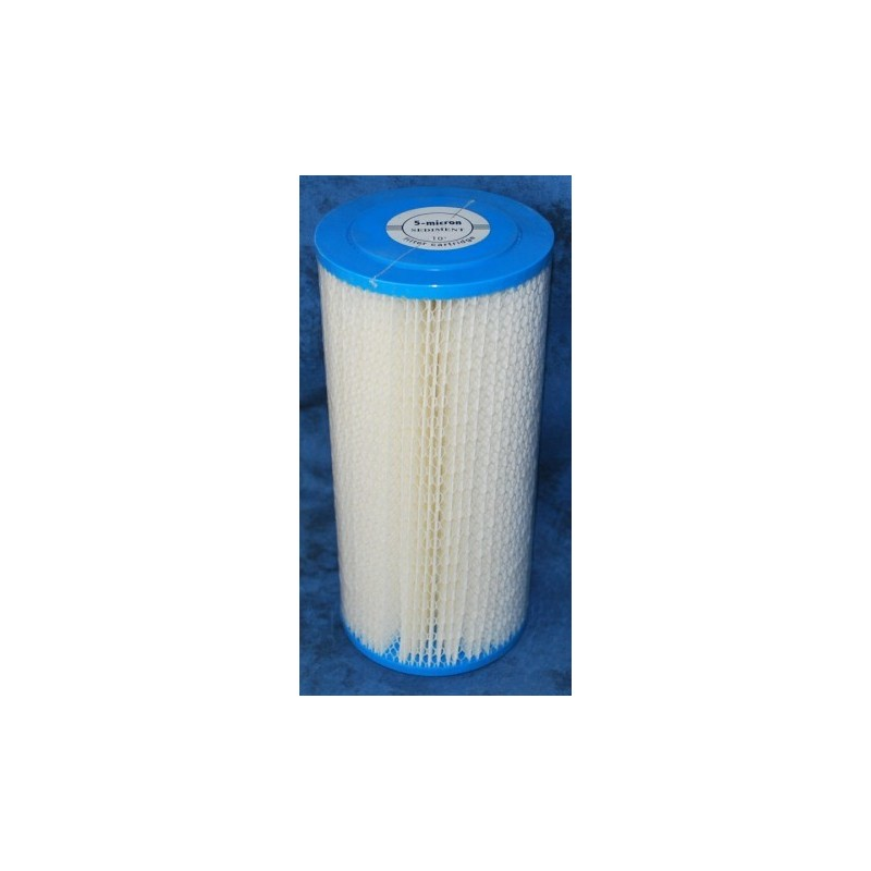 "Pleated 10""x2.5""  sediment filter"